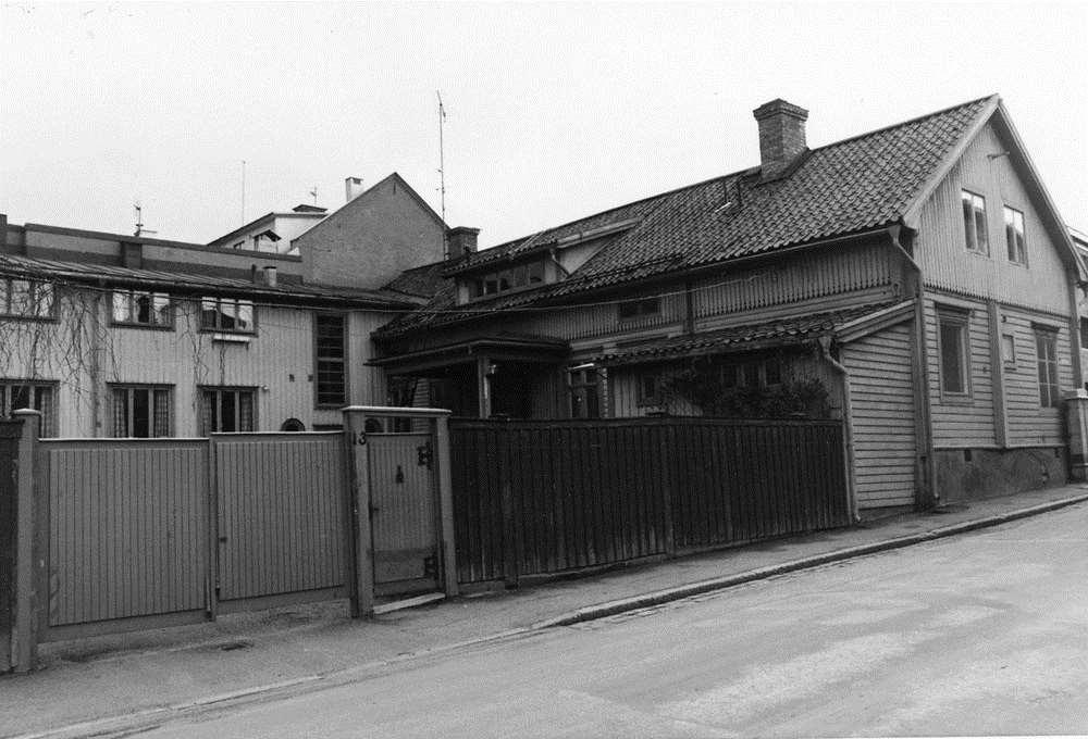 Blomérska gården på Södra Mariegatan (svartvitt foto)