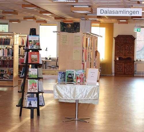 Interiörbild av Dalasamlingen på Falu stadsbibliotek
