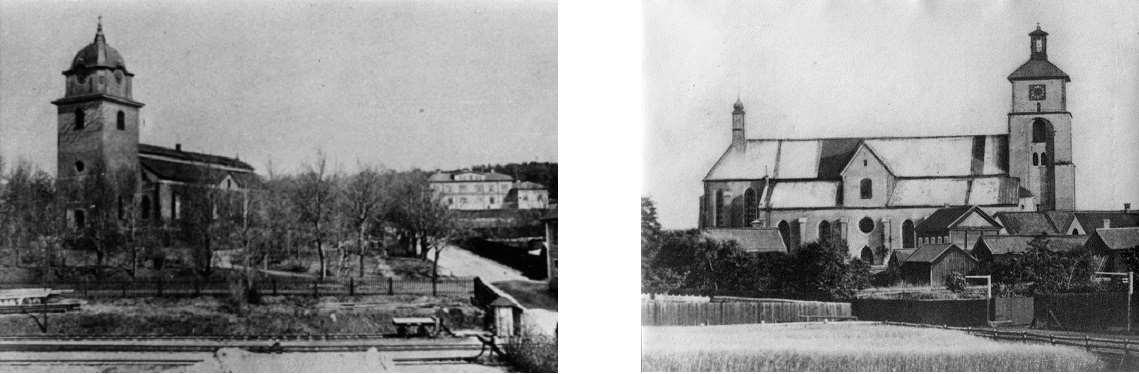Kopparbergs och Kristine kyrkor i slutet av 1800-talet (foton)
